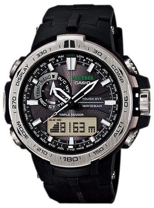Casio Protrek Triple Sensor Analog Digital Atomic PRW-6000-1 Men's Watch