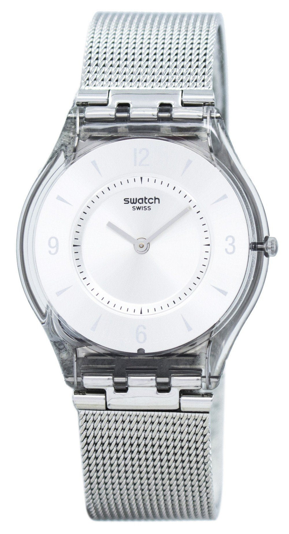 Swatch Skin Metal Knit Quartz SFM118M Women's Watch