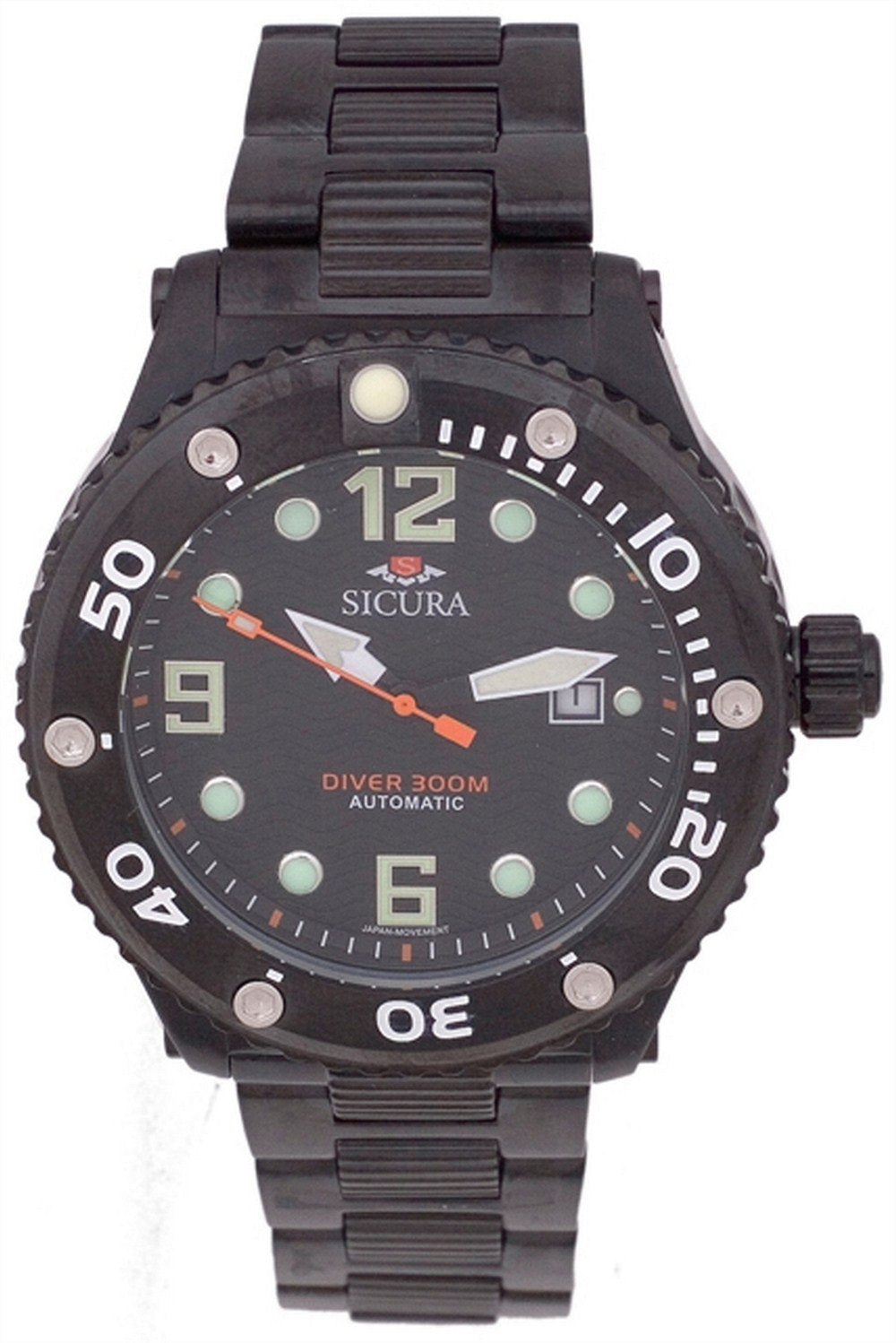Sicura Automatic Diver's 300M Crystal SM606GB Men's Watch