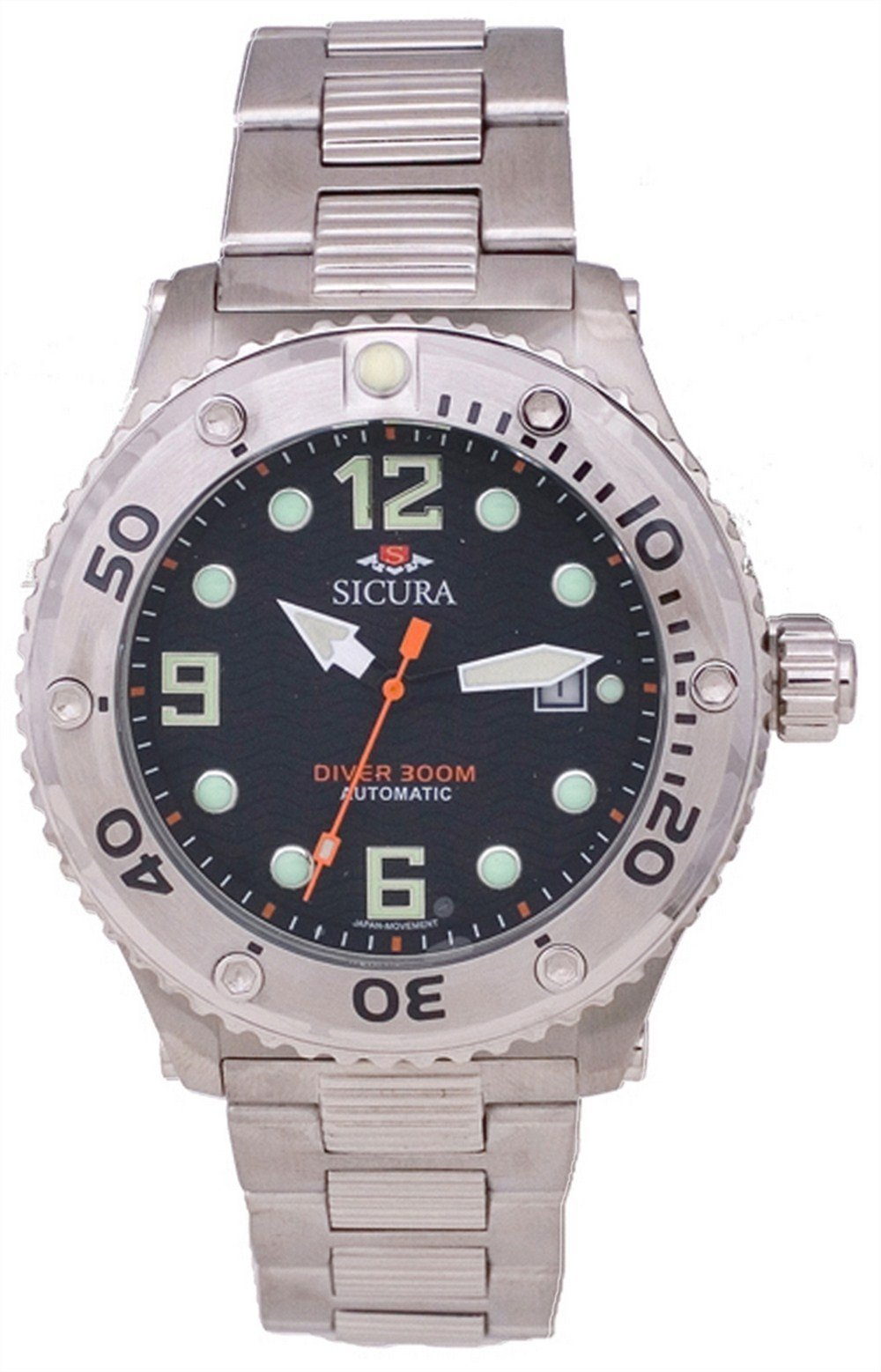 Sicura Automatic Diver's 300M Crystal SM606MB Men's Watch