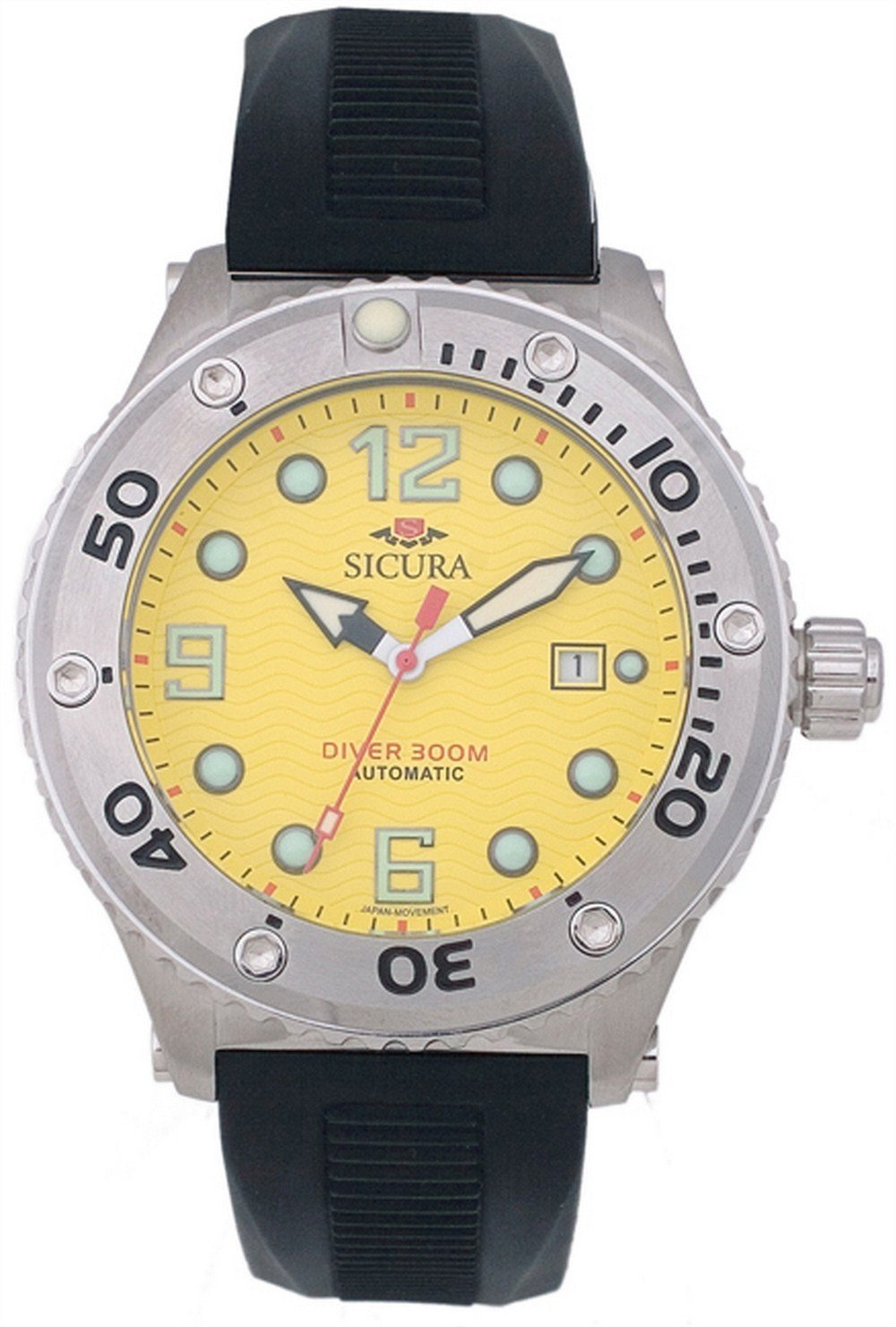 Sicura Automatic Diver's 300M Crystal SM606PY Men's Watch