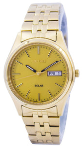 Seiko Core Solar Gold Tone SNE036 SNE036P1 SNE036P Men's Watch