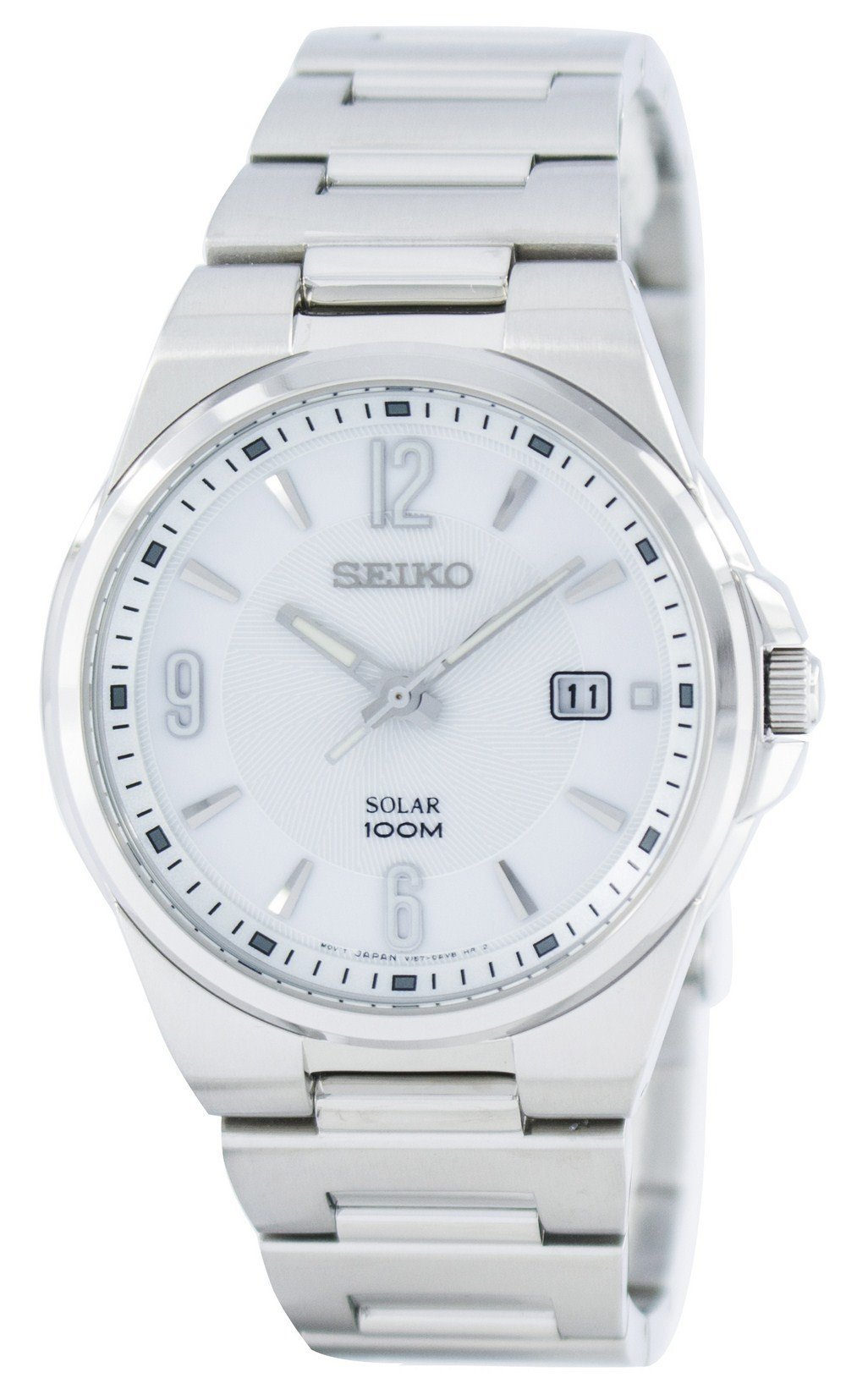 Seiko Solar SNE209 SNE209P1 SNE209P Men's Watch