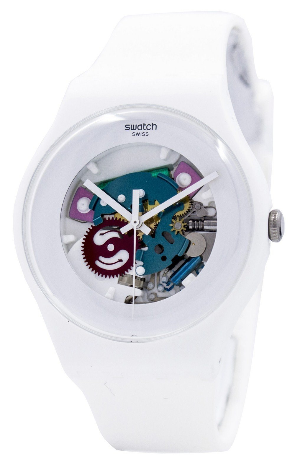 Swatch Originals White Lacquered Swiss Quartz SUOW100 Unisex Watch