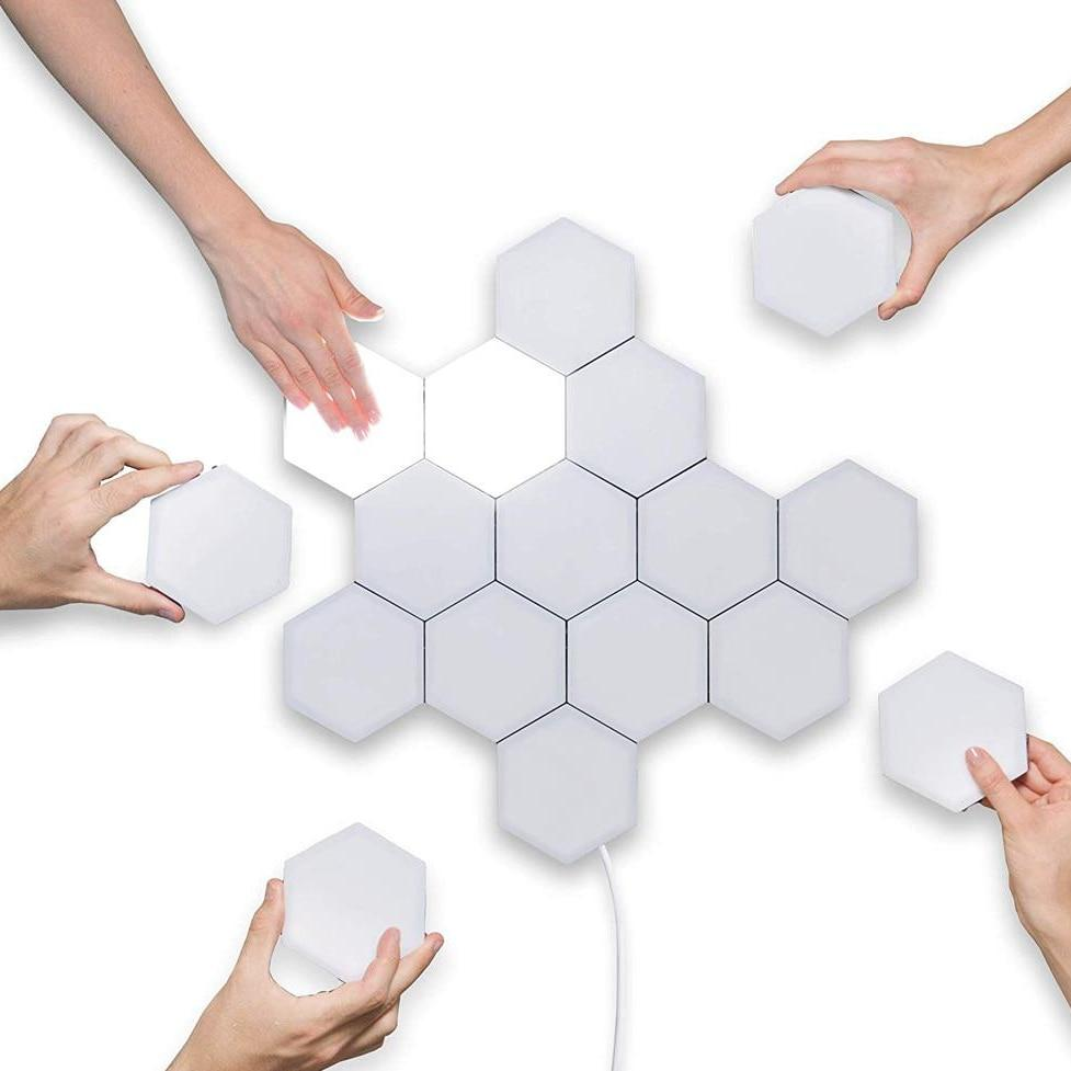 Modular Hexagonal Led Lamps Touch Sensitive
