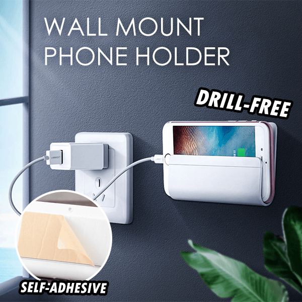 Drill-Free Wall Mount Phone Holder