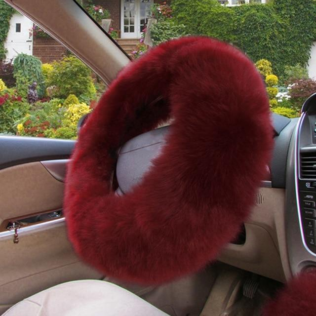 Furry Steering Wheel Cover (3 Piece Set)