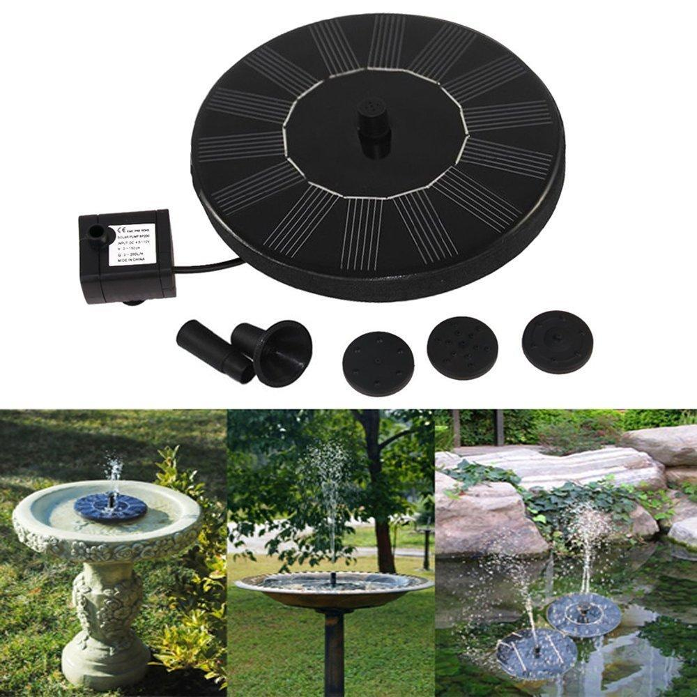 Solar Panel Water Fountain