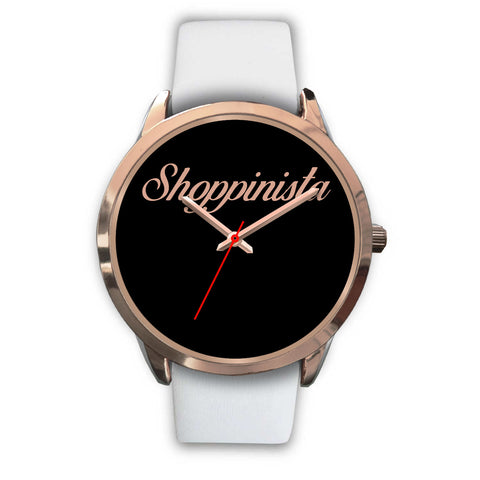 Shoppinista Watch, Rose Gold - Multicolor Bands
