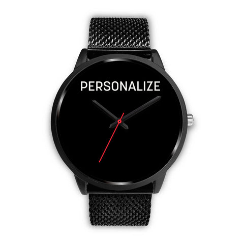 Shoppinista Watch Black - Personalizable, Multicolor Bands