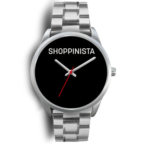 Shoppinista Watch, Silver - Multicolor Bands