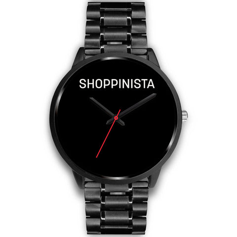 Shoppinista Watch, Black - Multiple Colors Bands