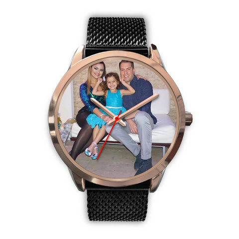 SHOPPINISTA WATCH ROSE GOLD - PERSONALIZABLE, MULTICOLOR BANDS