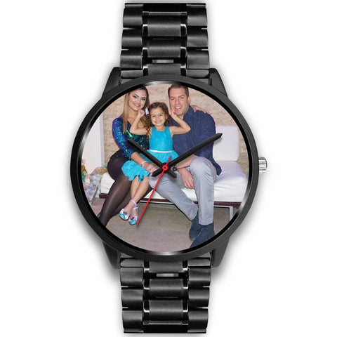 Shoppinista Watch, Black - Personalizable, Multiple Colors Bands