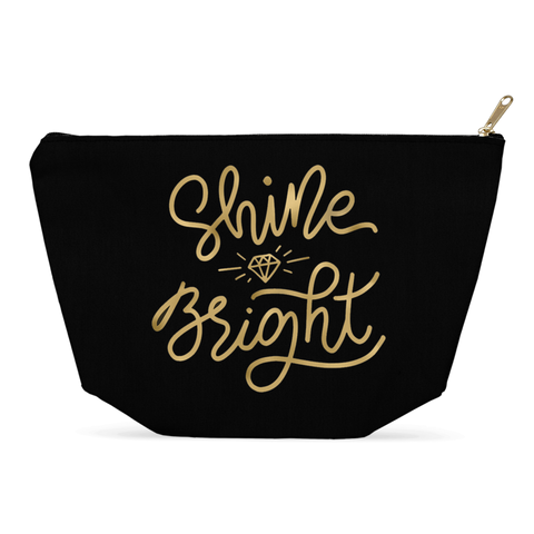 Shine Bright Big Black Makeup / Multiuse Bag