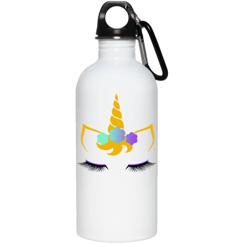 Flower Unicorn 20 oz. Stainless Steel Water Bottle