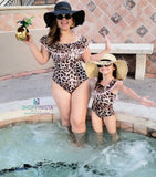 Leopard Bodysuit + Swimsuit for Mom and Daughter