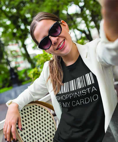 SHOPPINISTA IS MY CARDIO T-Shirt