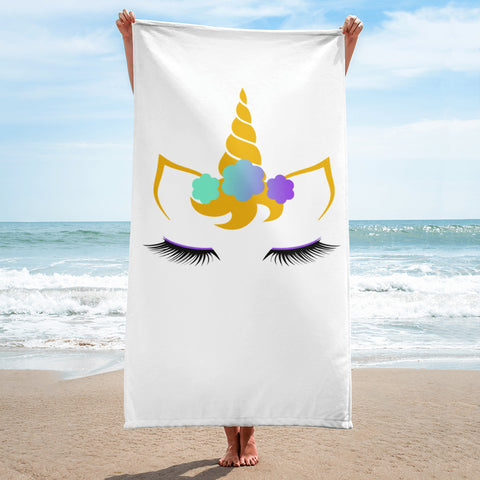 Flower Unicorn Towel 30 x 60