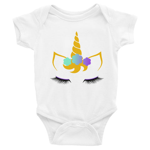 Flower Unicorn Infant Bodysuit
