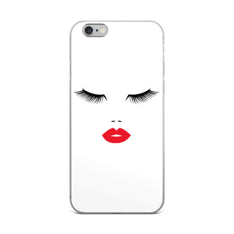 Sexy Eyes and Lips iPhone Case