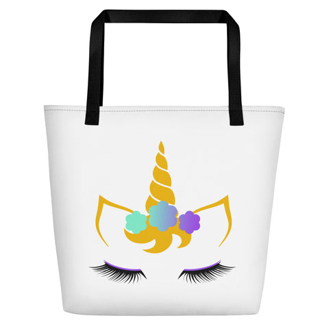 Flower Unicorn Shoppinista Bag 16x20 - Double Design