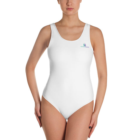 SHOPPINISTA ALL WHITE One-Piece Swimsuit