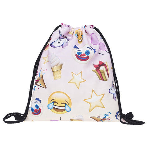 Unicorn and emojicons backpack