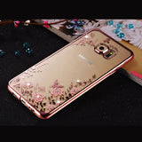 Soft Silicone TPU Flower Phone Cases for Samsung Galaxy