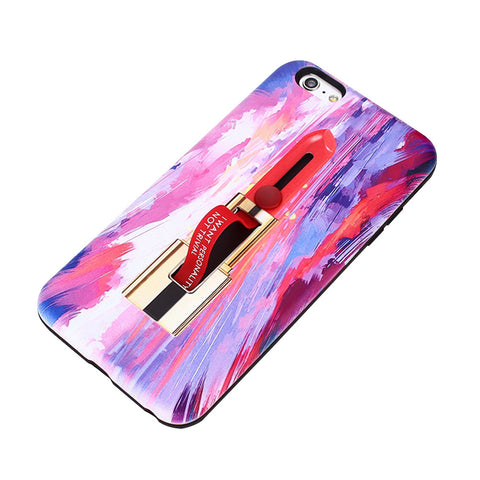 Anti-Scratch Protective Phone Cover Shockproof Lipstick Painting Pattern TPU Phone Case Cover for iPhone