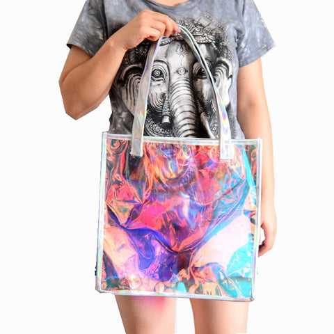 PVC Holographic Clear Bag