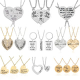 Mom, Daughter, Son, Dad Puzzle Jewelry Sets