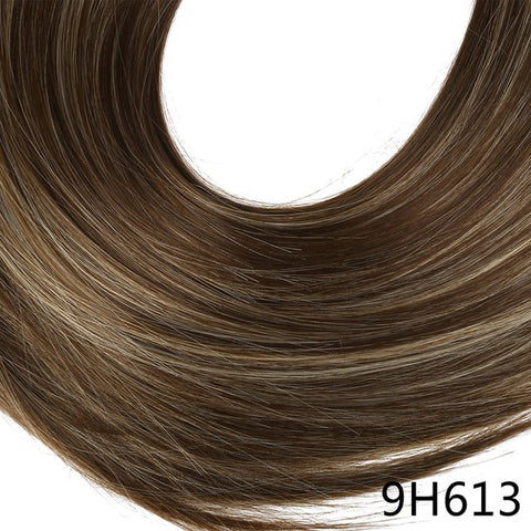 14 16 18 120g Wave Halo Hair Extensions Invisible Ombre Bayalage Synthetic Natural Flip Hidden Secret Wire Crown Grey Pink Synthetic Clip-in One Piece Synthetic Extensions