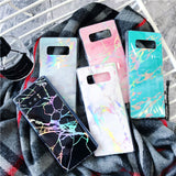 Iridescent Marble Holographic Holo Phone Case For Samsung
