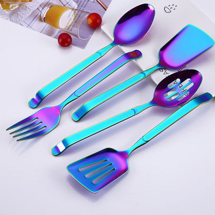 Stainless Steel Multicolor Spatula, Spoon, Fork