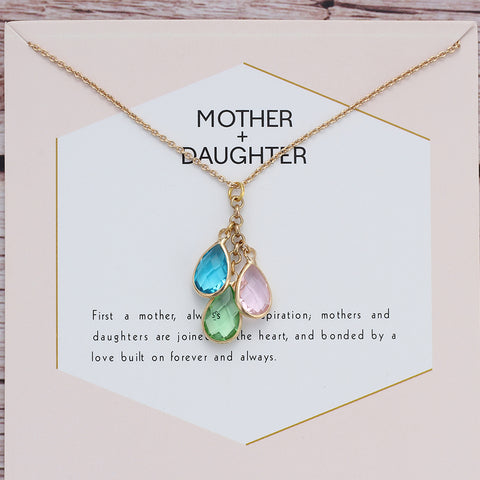 Cadena en Tarjeta - Mother + Daughter Necklace