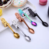 Cucharas Stainless Steel Sirena o Gatos - 5 pcs Multicolor Spoon