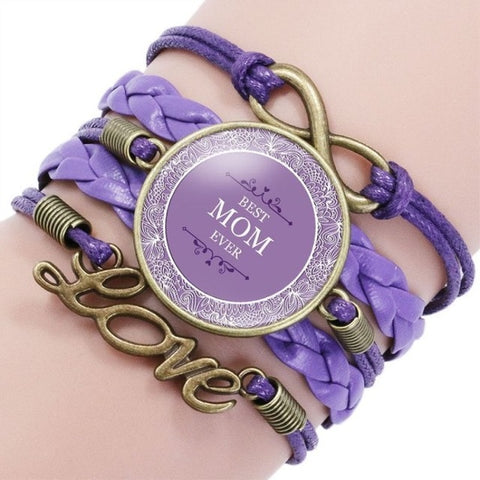 MOM Leather Strands Bracelet