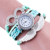 Fashion Wing Wrap Around Luxury Rhinestone Leather Watch