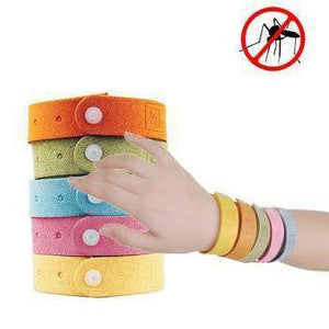 Mosquito Repellent Bracelets (Adjustable Strip for Adults & Kids) (4pc)