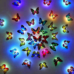 10 Pcs Romantic Magic LED Butterfly