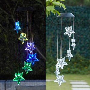 Solar-Powered Dangling Star Lights