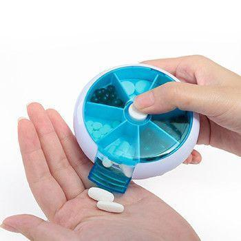 7 Days Round Tray Portable Pill Box - Next Deal Shop  - 1
