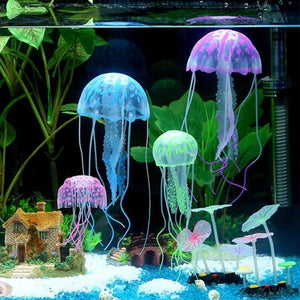 5 Pieces of Assorted Artificial Jellyfish - Perfect For Aquarium Fish Tank!