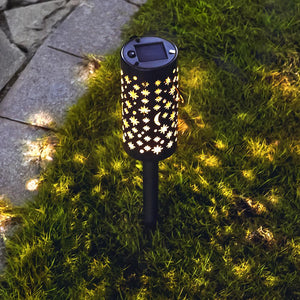 Solar-Powered Iron Starry Stake Light
