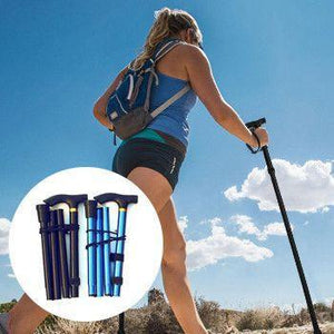Compact Foldable Trekking Pole - Perfect for Hiking, Walking, Backpacking and Snowshoeing