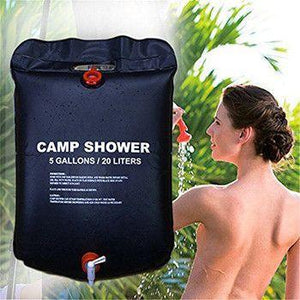 5 Gallon Solar Heated Shower Bag - Ideal for Traveling, Hiking, Backpacking, and Camping!