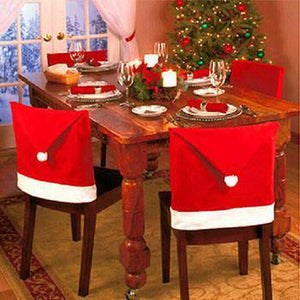4 Pcs Festive Chair Cover Set - Add a Festive Touch to Your Dining Table!
