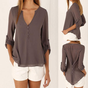 Casual Blouse with Clinched Back