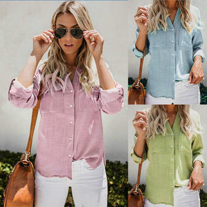 Relaxed Roll-Up Long Sleeve Shirt